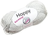 Grundl 2676-30 Happy Knitting Pelote de fil à tricoter Gris 100 g