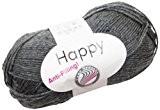 Grundl 2676-31 Happy Pelote de laine à tricoter Gris ardoise 100 g