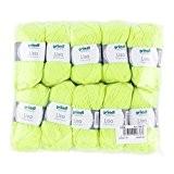 Gründl 760-27Lisa Premium laine, polyacrylique, jaune fluo, 32x 27x 6cm