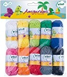 Gründl  Amigurumi - Set I  Fil à tricoter Coton Multicolore 19,50 x 18,00 x 2,60 cm
