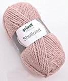 Gründl Laine Shetland couleur 07-Saumon Melange-La main dans les tons pastel Pelote à tricoter & Crochet