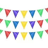 Guirlande drapeau triangle double face multicolore 120m