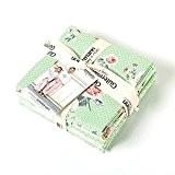 "Gutermann ""Summer Loft"" Fat Quarter Bundle Craft d'alimentation, 100% coton, vert, lot de 5"