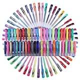 GYOYO 48 Pcs Multicolore Stylos Gel/Stylos Billes à Encre Gel Multicolores/Stylos Paillettes/ encre stylos à bille/ Stylos encre gel Idéal ...