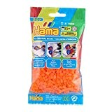Hama - 207-38 - Loisir Créatif - Midi Sachet 1000 Perles - Orange Néon