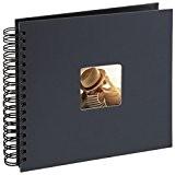 Hama Album photo Fine Art, 50 pages noires (25 pages), album à spirales 28 x 24 cm, avec découpe pour ...
