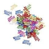 Happy Birthday Confettis de Papier Décoration de Célébration Anniversaire Couleur Mixte