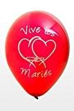 Hb - Ballon mariage Vive les mariés x8 rouge