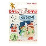 Helz cuppleditch Dear Santa Carol Chantant Tampon transparent, en silicone, multicolore