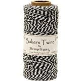 Hemptique 125 m 2 brins en coton Bakers Twine Ficelle moyenne Noir/blanc