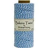 Hemptique coton Bakers Twine bobine 2 plis 410 pieds/Pkg-bleu/blanc