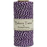 Hemptique coton Bakers Twine bobine 2 plis 410 pieds/Pkg-violet/blanc