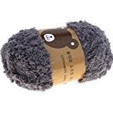 Hengsong Bébé/Enfants Christmas Cadeau Couleurs 48g Pelotes Laine à Tricoter/1 Set Balle Outil/22 Crochets/ Pour DIY Manteau/Pull/Gants/Chapeaux/écharpe (Gris)