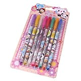 herzii Cute Cartoon coloré Papeterie Stylo à encre gel kawaii étudiants Enfants Stylo roller, 12