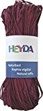 HEYDA Raphia naturel 20488779230m bordeaux 50g
