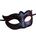 Hommes ou Dames Vénitien Masque de Mascarade Partie des Yeux Masque Noir Carnaval