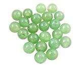 HOUSWEETY 100 Perles Boule en Jade Vert Clair 6mm