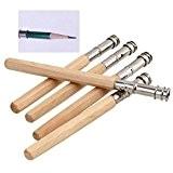 Hrph 5pcs Extensation pour Crayons Dessin au Crayon Périphérique Rallongés Rods Carbon Clip de Allongement Bar Pencil Sketch Art