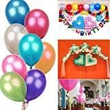 ILOVEDIY 50/100PCS Ballons de Baudruche Gonflables Helium pour Mariage Anniversaire Bapteme Rouge
