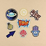ILOVEDIY 8Pcs ecusson thermocollant patch badge applique ecusson a coudre enfant POW STAR(#2-8pcs)