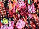 Imprimé arc-en-ciel Airtex Lycra stretch Jersey Rose Tissu de robe-au mètre