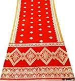Indien Cru Sari Imprimé Soie Mélange Artisanat Tissu Femmes Bollywood Occasionnel Saree 5 Cours