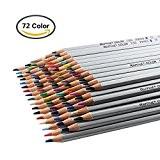 iZiv 72 Couleurs Crayons de couleur Marco Raffiné Crayons d'Artiste Dessin Adulte Secret Garden Coloring Book / Enfants Artiste Rédaction, ...