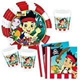 Jake et les pirates - Anniversaire Party Set (8x Assiettes, 8x Gobelets 20x Serviettes)