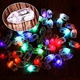 Janecrafts 10x Mini LED Ballons Lampes pour Lanternes en Papier Anniversaire Mariage Bapteme Lumineux COULEUR