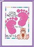 Janlynn compté point de croix kit pour empreintes bébé naissance