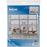 Janlynn coton Sea Breeze Vista Kit broderie pour point de croix Motif 35,6 x 28 cm 14 fils