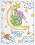 Janlynn en croissant Lune naissance Kit point de croix compté