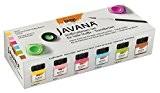 JAVANA 90599-Textile Plastique fois couleurs Sunny creat ivset Fresh Colors, 6x 20ml