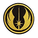 Jedi Order Star Wars Yellow Embroidered Touch Fastener Écusson Patch