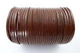 Jewellery tools Lacet/cordon en cuir plat pour colliers et loisirs créatifs - Marron- Longueur 3m - 5mm