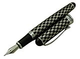 Jinhao X750Stylo à plume moyenne Motif peau de serpent plaquée or 18K Medium pour stylo