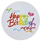 Joyeux anniversaire arc-en-ciel Design ronde joint autocollant Scrapbooking / Label