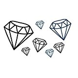 Jspoir Melodiz Créative Tatouage Temporaire Autocollant Diamant Symbole Simulation Pour Hommes Femmes Waterproof Transfert Corps DIY Art Décoration