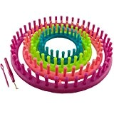 K7plus Kit anneau à tricoter 6 pièces, pour tricot et crochet, aiguille courbée, 4 cadres de tricot (28cm + 23cm ...