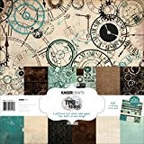 "Kaisercraft Paper Pack 12""X12"" 12/Pkg-Time Machine"