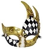 Kapmore Masque Carnaval Vénitien Mascarade Masque Mardi Gras Masque Vintage Homme (Style 2)