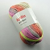 Katia bombay 2017 magenta pelote de laine gris 100 g