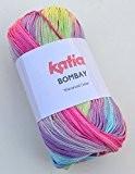Katia bombay 2019 cerise pelote de laine gris 100 g