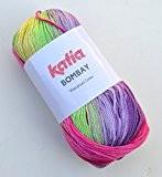 Katia bombay 2026 flower pelote de laine gris 100 g