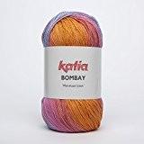 Katia Bombay-Couleur?: Naranja/verde Agua/chiclé/Jeans (2028)-Laine/env. 230M 100g