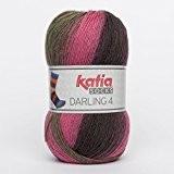 Katia Darling 4chaussettes Socks FB. 64Marrón/VIVOS, coton avec dégradé, non seulement pour tricoter