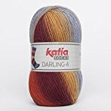 Katia Darling 4Socks FB. 65Azules/grenade/VIVOS, Chaussettes Coton avec dégradé, non seulement à tricoter Chaussettes