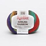 Katia Darling Rainbow-Couleur?: Cap-Vert/Naranja/rose (306)-50g/env. 190m coton