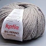 Katia - Pelote de laine à tricoter BIG MERINO NATUR - Katia - Ecru 500