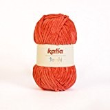 Katia - pelote de laine velours à tricoter BAMBI - Katia layette - Orange 313